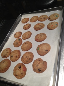 Our cookies fresh out of the oven